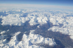 Alps Aerial View. From airplane Stock Image