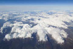 Alps Aerial View. From airplane Royalty Free Stock Photos