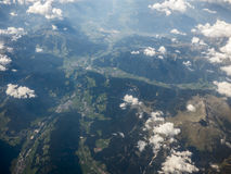 Alps from aerial view Royalty Free Stock Photo
