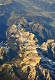 The Alps - aerial view Royalty Free Stock Photo