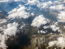 Alps from aerial view Stock Photo