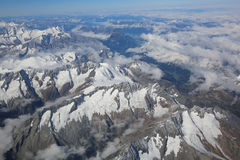 Alps Aerial View Stock Image