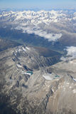 Alps Aerial View Stock Photography