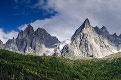 Alps, Aiguille de Midi, Chamonix in France Stock Photo