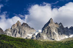 Alps, Aiguille de Midi, Chamonix in France Stock Images