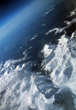 Alps from airplane. Swiss Alps air view from the airplane royalty free stock photo