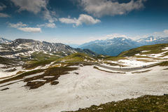 Alps. Alpina road-Grossglockner Hohalpenstrasse .Hohe Tauern National Park, Austria Royalty Free Stock Photos