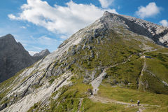 Alps - ascent to Watzmann peak Stock Images