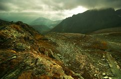 Alps In Austria 3. Glosglogner in Austrian Alps.  Ominous cloud cover Royalty Free Stock Images
