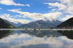 alps Austria kaprun widzii skłonu narciarskiego zell Zdjęcie Royalty Free