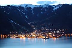 alps Austria kaprun widzii skłonu narciarskiego zell Zdjęcia Stock