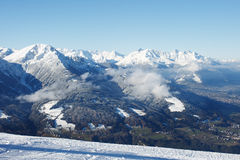 The Alps. Austrian Alps. Patscherkofel. The view from the mountain royalty free stock photos