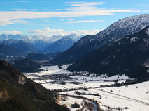 Alps. The Alps in Bavaria, clear winter day Royalty Free Stock Photography