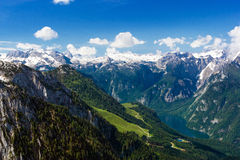 The Alps. Beautiful view of the European Alps Royalty Free Stock Image