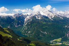The Alps. Beautiful view of the European Alps Royalty Free Stock Photo