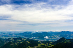 The Alps. Beautiful view of the European Alps with large copy space above Stock Images