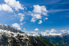 The Alps. Beautiful view of the European Alps with large copy space above Royalty Free Stock Images