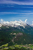 The Alps. Beautiful view of the European Alps with large copy space above Stock Photos