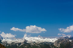 The Alps. Beautiful view of the European Alps with large copy space above Royalty Free Stock Photography
