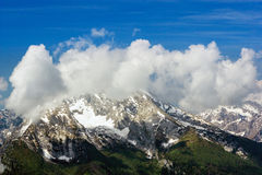 The Alps. Beautiful view of the European Alps with large copy space above Royalty Free Stock Photos