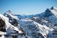 The Alps. Beautiful view over mountains in the Swiss Alps. Titlis, Switzerland stock photo