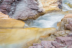 Alps beck under the Hochkonig peak in the calcite rock Royalty Free Stock Photo