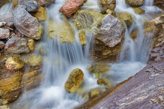 Alps beck under the Hochkonig peak in the calcite rock Royalty Free Stock Image