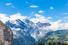 Alps on Bernese Oberland Stock Photo