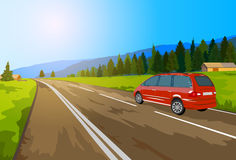 Alps car travel. Royalty Free Stock Image