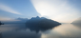 Alps of central Switzerland. Royalty Free Stock Photo
