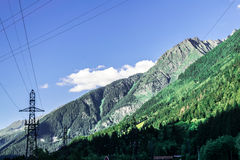 The alps and chamonix in summer Royalty Free Stock Photography