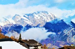 Alps and clouds in Switzerland Royalty Free Stock Images