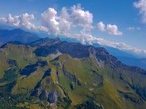 Alps from cockpitview stock photos