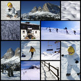Alps collage. Mountains - Fabulous italian Alps pictures in a collage or collection Stock Images