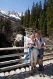 alps couple hiking retired Стоковое Изображение