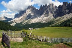 Alps Dolomites Odle Royalty Free Stock Images