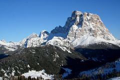 Alps Dolomites Pelmo peak Stock Photography