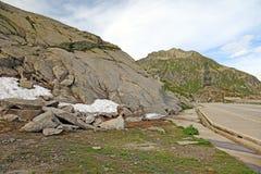 alps drogowy lato szwajcar zdjęcia royalty free