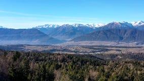 Alps. Drone winter scena taken in Alps stock video footage