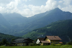 Alps farm in Austria Royalty Free Stock Photo