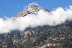 Alps in Fog. A Alps in fog, clouds Royalty Free Stock Photography
