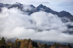 Alps in Fog Stock Photos