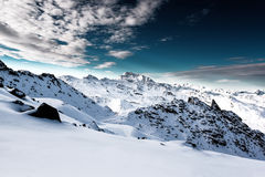 Alps, France, ski resort of Val Thorens Stock Images