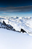 Alps, France, ski resort of Val Thorens Royalty Free Stock Image