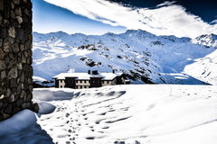Alps, France, ski resort of Val Thorens Royalty Free Stock Images