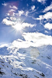 Alps, France, ski resort of Val Thorens Stock Image
