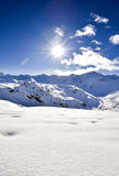 Alps, France, ski resort of Val Thorens Royalty Free Stock Photo