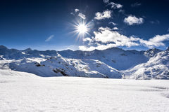 Alps, France, ski resort of Val Thorens Stock Photo