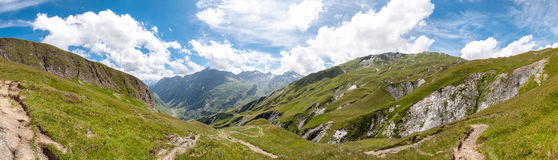 Alps, France (Way to Les Chapieux) - Panorama Stock Photography