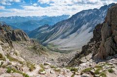 Alps Frankrike (den Fenetre d'Arpetten) Royaltyfri Bild